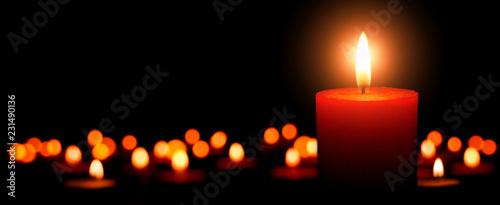 Leinwandbild Motiv Advent Kerzen, erster Advent