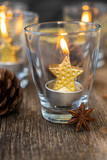 Glowing Christmas candles - 231492704