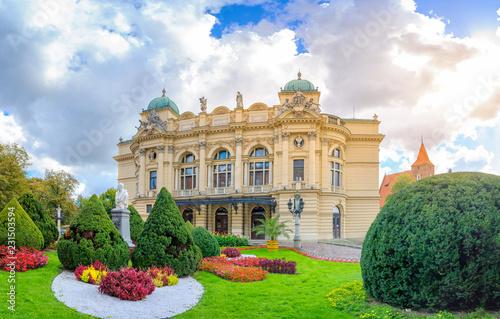Zdjęcia na płótnie, fototapety na wymiar, obrazy na ścianę : theater Juliusza Slowackego in Krakow, Poland