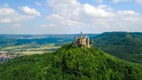 Hohenzollern Castle, Germany. Aerial FPV drone flights. - 231510991