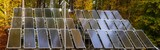 solar panels surrounded by an autumn forest-Panorama - 231514981