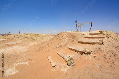 A water well on dessert. Sahara, Morocco - 231525104