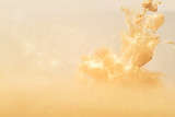 ink in water, golden wave, abstract background - 231526994