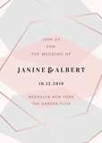 Modern Geometric Design Wedding Invitation Template - 231529391