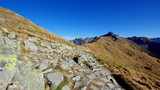 Turystyczny szlak górski prowadzący z okolic Giewontu do stacji kolei górskiej na Kasprowym Wierchu - 231540103