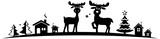 Silhouette Christmas Reindeers