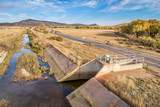 water diversion ditch at foothills of Rocky Mountains - 231546984