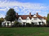 Village cottages, The Crescent, Aldenham, Hertfordshire, UK - 231556122