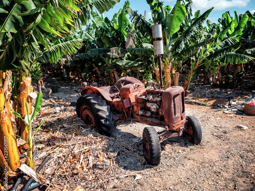 Abandoned antique tractor