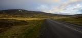 Icelandic landscape at a midsummer night. Road No. 744 on Peninsula Skagi. - 231562737