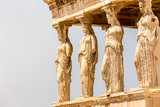 Caryatids Erechteion Acropolis Athens Greece  Detail of caryatids statues on the Parthenon on Acropolis Hill - 231565741