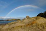 beach with rainbow fair weather - 231565792