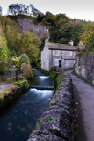 Quaint cottage in the peak district with a running river and rock wall - 231566937