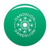 Delicate dandelion logo icon. Simple illustration of delicate dandelion vector icon for any design green - 231579341