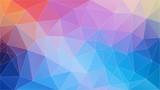 Flat Frash color geometric triangle wallpaper. Horizontal vector background - 231590567