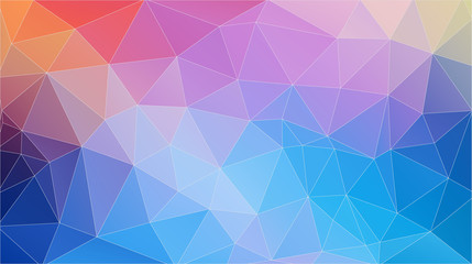 Flat Frash color geometric triangle wallpaper. Horizontal vector background