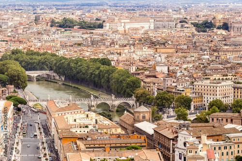 Widok na Rzym z Castel Sant