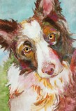 Original Dog Painting Illustration