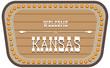 Vintage street sign Kansas