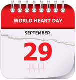 Calendar world heart day - 231624543