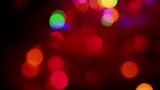 colorful blurred glowing christmas lights background - 231635952