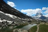Scenic bright view of Matterhorn and clouds around, Swiss Alps near Zermatt - 231636125