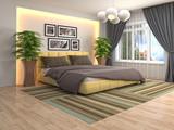 Bedroom interior. 3d illustration - 231643949