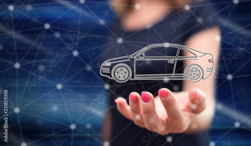 Concept of car transport - 231659308