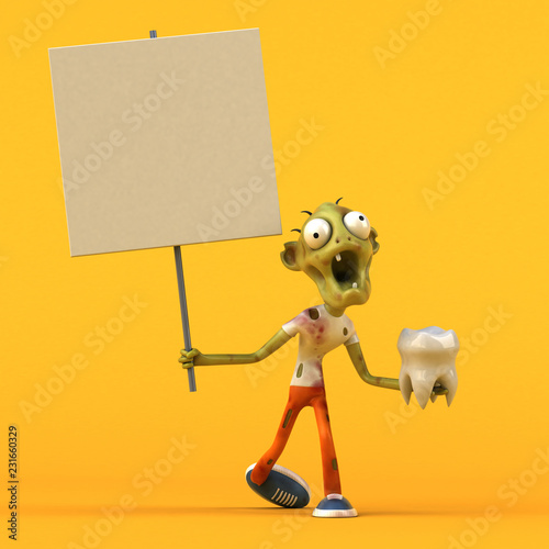 Fun zombie - 3D Illustration - 231660329