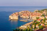 Aerial view of Dubrovnik old town, Croatia - 231661166