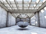 Fototapeta Przestrzenne - Modern concrete hall © FreshPaint