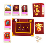 Game of Lord magic board game elements set vector Illustration on a white background - 231664128