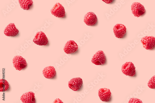 Colorful pattern of raspberries - 231664352
