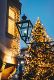 Graz city advent Christmas tree in the main Christmas Market in front of the city hall - 231667398