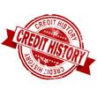 Credit history red vintage stamp