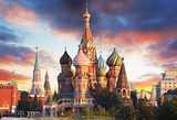 Moscow, Russia - Red square view of St. Basil's Cathedral at sunrise, nobody - 231681967