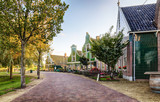 Traditional house at the historic village of Zaanse Schans, Netherlands - 231682586