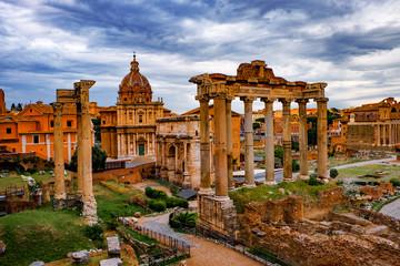 Roman Forum Architecture in Rome City Center