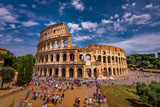 Tourists Visiting The Colosseum in Rome Italy - 231688362