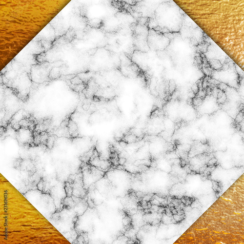 Golden foil and marble - 231696136