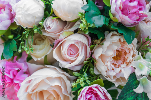 ozdoba kwiatowa, różowa róża