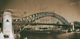 Night view of Sydney Harbor Bridge from Luna Park Ferris Wheel, Australia - 231700967