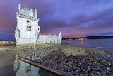 Sunset view of Belem Tower on a beautiful autumn evening, Lisbon, Portugal - 231701365