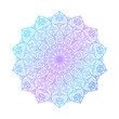 Mandala pattern.Ornament of flowers in color