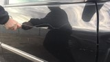 Mad person keys car door vandalism and scratches up paint job thereafter. - 231702969