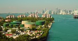 Industrial fuel oil containers storage Fisher Island Miami Beach FL - 231706780