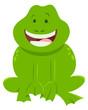 cartoon frog funny animal character