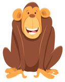 happy chimpanzee ape animal character