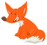 cartoon red fox funny animal character - 231713329