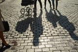 Schattenwurfvon Personen auf dem Prinzipalmarkt in Münster, Westfalen - 231715319